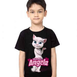 Black Boy Fairy white talking angela Kid's Printed T Shirt