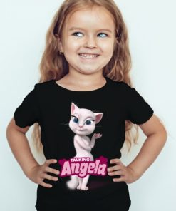 Black Girl Fairy white talking angela Kid's Printed T Shirt