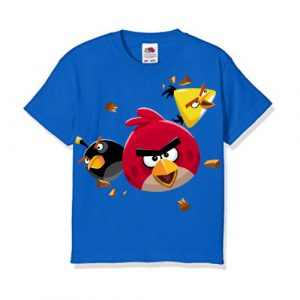 Blue Flying Angry Birds Kid's Printed T Shirt