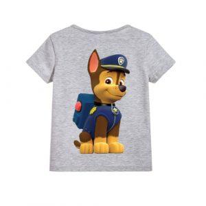 Grey Paw Patrol Dog Kid's Printed T Shirt