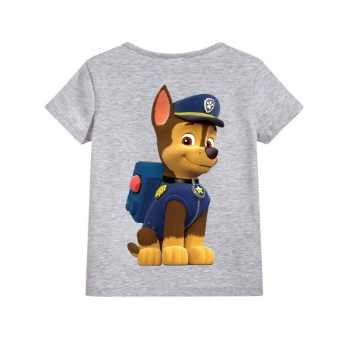 Grey Paw Patrol Dog Kid's Printed T Shirt