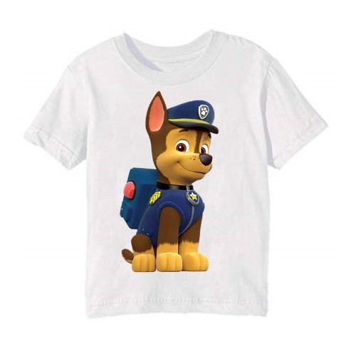 White Paw Patrol Dog Kid's Printed T Shirt