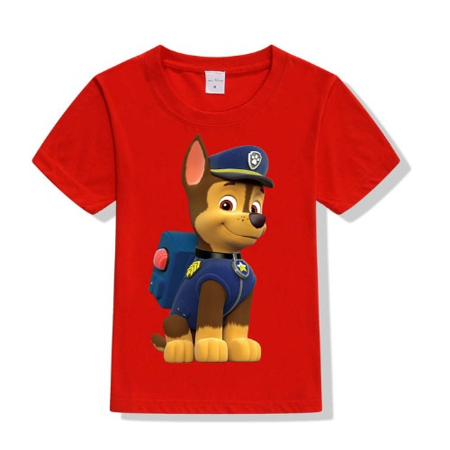 Red Paw Patrol Dog Kid's Printed T Shirt