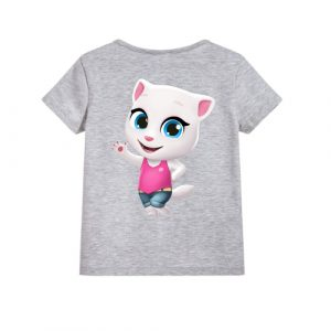 Grey baby talking angela Kid's Printed T Shirt