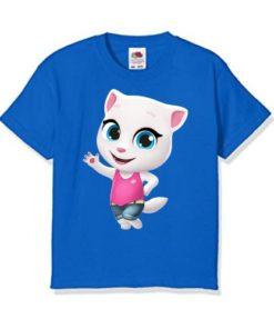 Blue baby talking angela Kid's Printed T Shirt