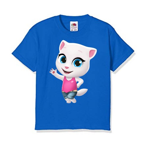 Blue baby talking angela Kid's Printed T Shirt