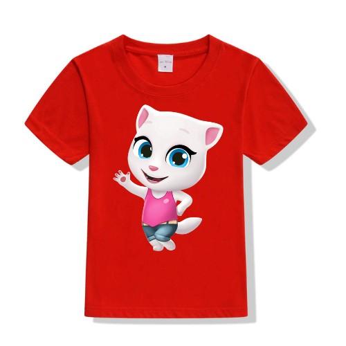 Red baby talking angela Kid's Printed T Shirt