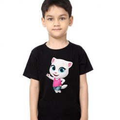 Black Boy baby talking angela Kid's Printed T Shirt