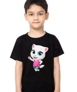 Black Boy baby talking angela Kid's Printed T Shirt