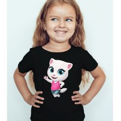 Black Girl baby talking angela Kid's Printed T Shirt