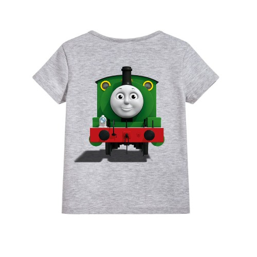 Grey train with face Kid's Printed T Shirt