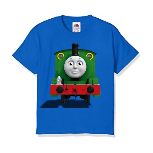 Blue train with face Kid's Printed T Shirt