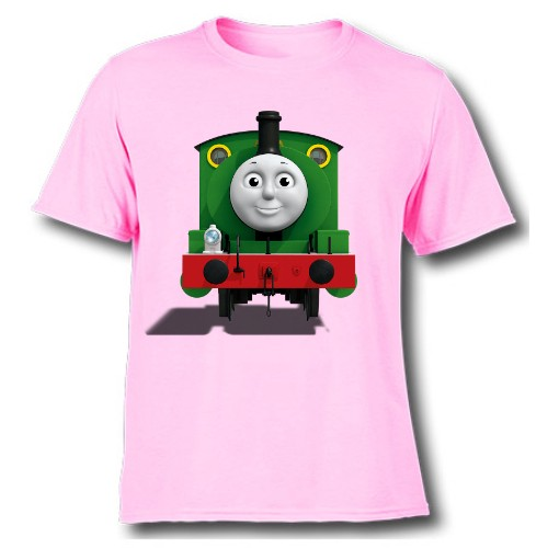 Pink train with face Kid's Printed T Shirt