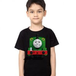 Black Boy train with face Kid's Printed T Shirt