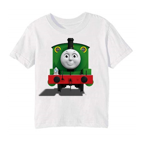 White train with face Kid's Printed T Shirt