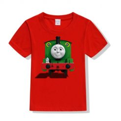 Red train with face Kid's Printed T Shirt