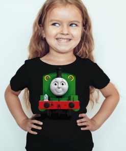 Black Girl train with face Kid's Printed T Shirt