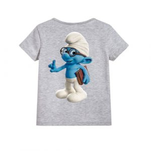 Grey Blue Gasper Kid's Printed T Shirt