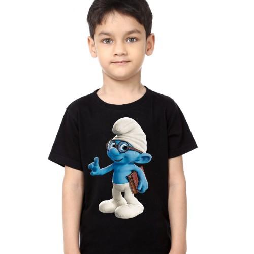 Black Boy Blue Gasper Kid's Printed T Shirt