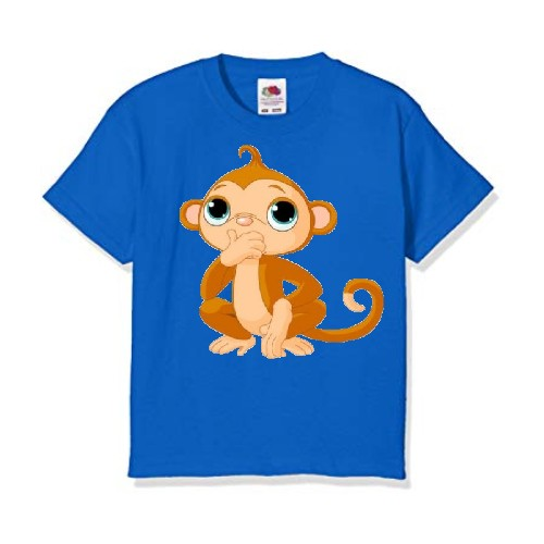 Blue Monkey Kid's Printed T Shirt