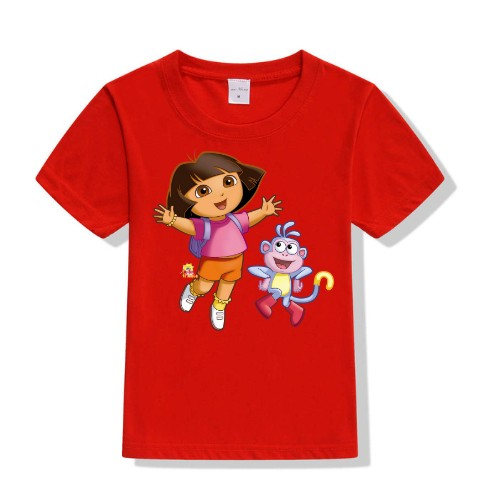 Red Dora with monkey Kid's Printed T Shirt