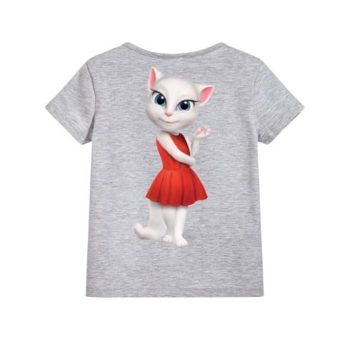 Grey Talking Angela in red dress Kid's Printed T Shirt