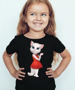 Black Girl Talking Angela in red dress Kid's Printed T Shirt