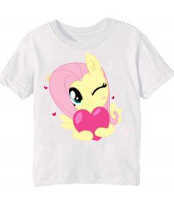 White heart & girl Kid's Printed T Shirt