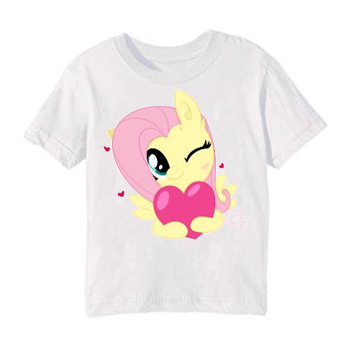White heart & girl Kid's Printed T Shirt