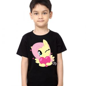Black Boy heart & girl Kid's Printed T Shirt