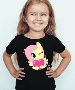 Black Girl heart & girl Kid's Printed T Shirt
