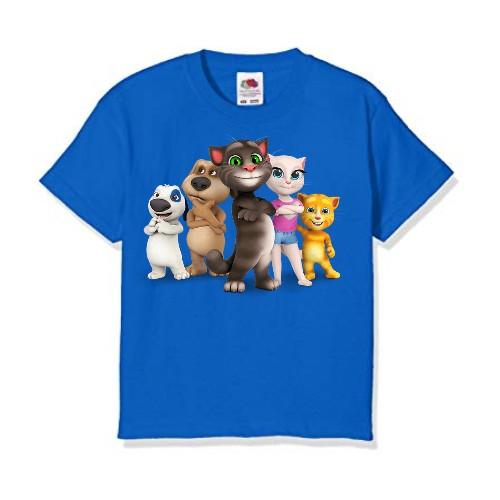 Blue Talking tom's team Kid's Printed T Shirt