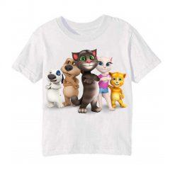 White Talking tom's team Kid's Printed T Shirt