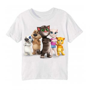 White Talking tom's team Kid's Printed T Shirt