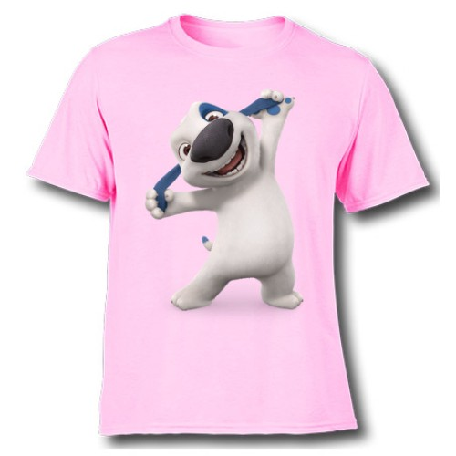 Pink Style pose dog Kid's Printed T Shirt