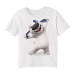 White Style pose dog Kid's Printed T Shirt