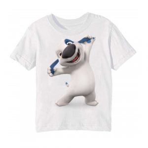 White Style pose dog Kid's Printed T Shirt