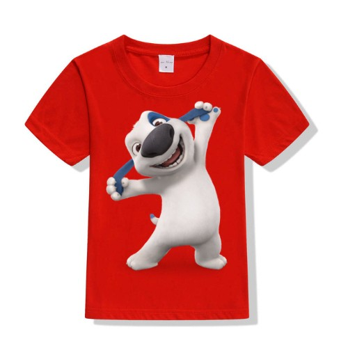 Red Style pose dog Kid's Printed T Shirt
