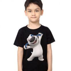 Black Boy Style pose dog Kid's Printed T Shirt