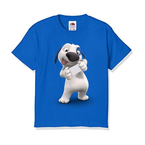 Blue dog reading letter Kid's Printed T Shirt