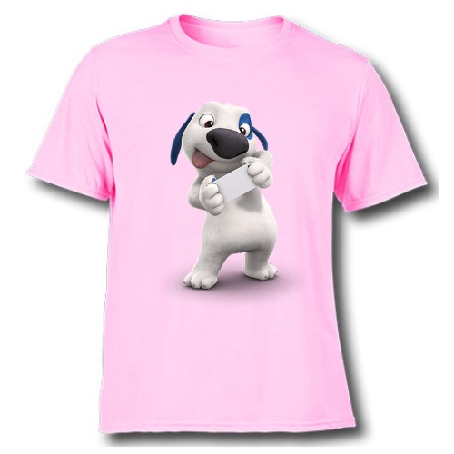 Pink dog reading letter Kid's Printed T Shirt