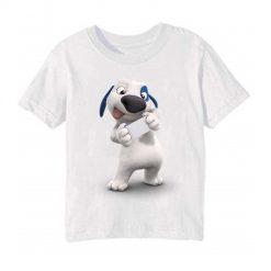 White dog reading letter Kid's Printed T Shirt