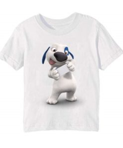 White dog reading letter Kid's Printed T Shirt