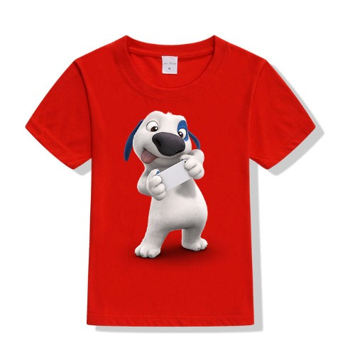 Red dog reading letter Kid's Printed T Shirt