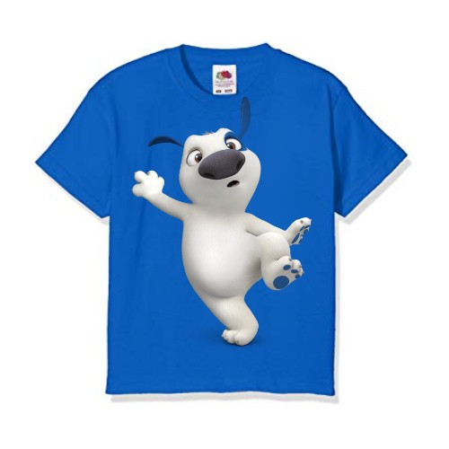 Blue one leg dog Kid's Printed T Shirt