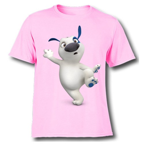 Pink one leg dog Kid's Printed T Shirt