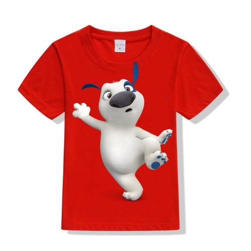 Red one leg dog Kid's Printed T Shirt