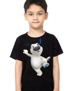 Black Boy one leg dog Kid's Printed T Shirt