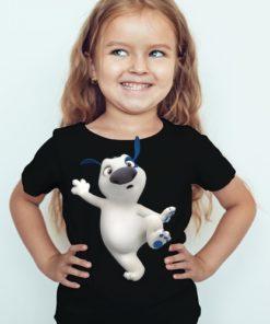 Black Girl one leg dog Kid's Printed T Shirt