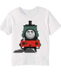 White angry train Kid's Printed T Shirt